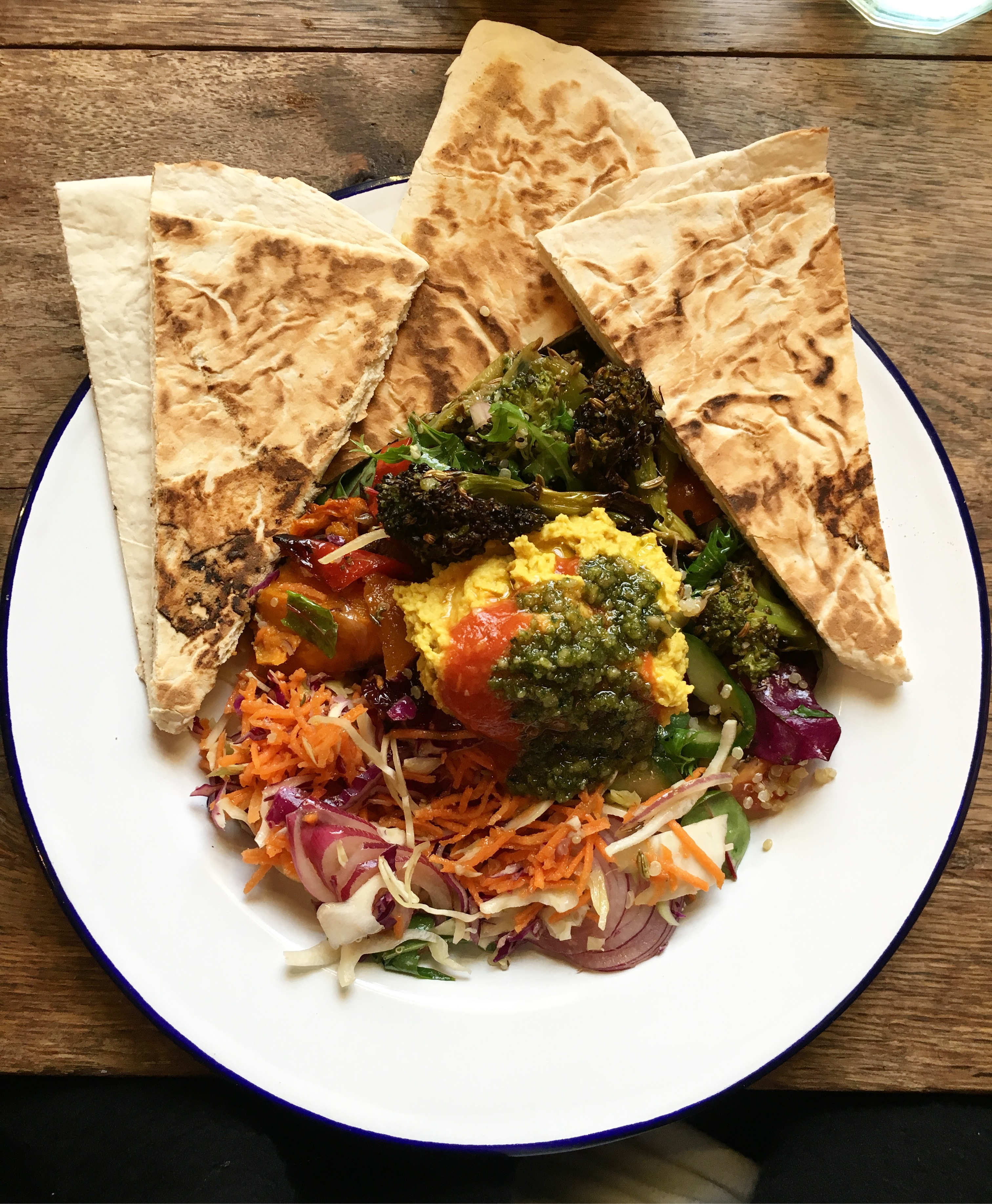 Vegan salad from beyond the kale in bath